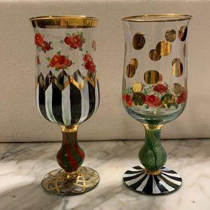 McKenzie Childs water Goblets